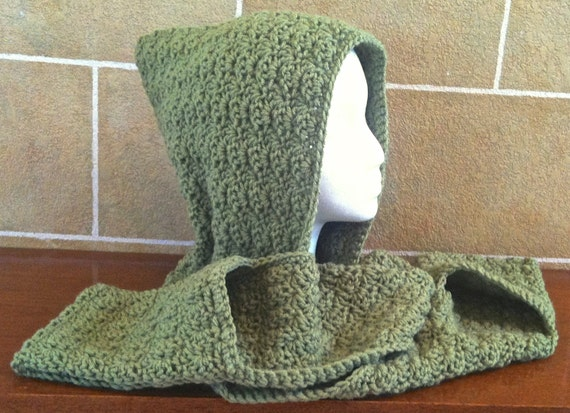 Hooded Scarf with Pockets Crochet Large by SkeinsOfAnarchy