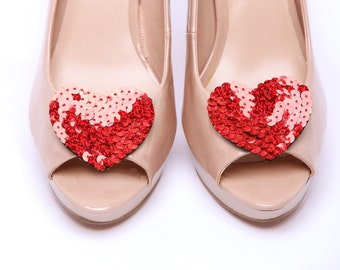 Wild at heart Red shoe clips