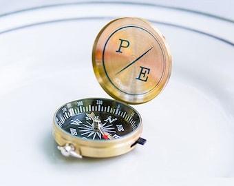 Personalized Wedding Favor - Adventurers' Compass Favor - Wedding Favor - Personalized Party Favors - Personalized Compass - Compass Favor
