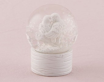 Set of 6 Mini Snowglobes - Wedding Favors - Bridal Shower Favor - Personalized Party Favors - Snowglobe wedding favor - Snowglobe favors