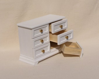 1/6 scale Miniature Dollhouse Dresser / Chest of drawers for 12 inch doll