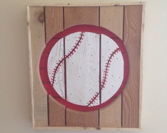 Wooden Baseball Sign from Reclaimed Wood