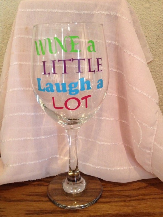 Vinyl On Glass : Vinyl wine glass by signsbydesignsummer on etsy
