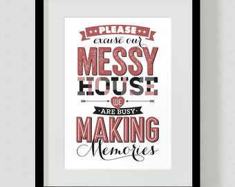 Quote Art Print: Making Memories