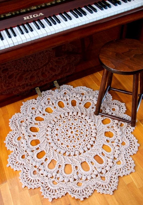Giant Doily Crochet Rug Rustic Rug Splendid Pattern Crochet