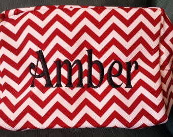 Personalized Chevron Cosmetic Bag