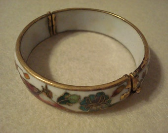 Gold plated and enamel painted bracelet