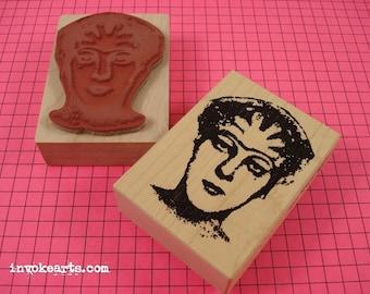 Lula Face Stamp / Invoke Arts Collage Rubber Stamps