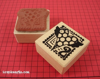 Heart Post Stamp / Postoid / Invoke Arts Collage Rubber Stamps