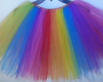 Full Rainbow Tulle Skirt
