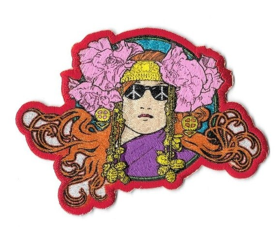 Sixties Hippie Retro Poster Art Embroidered Patch Iron On