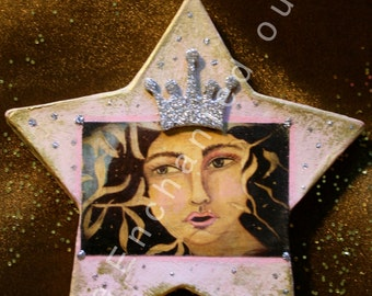 Snow Queen Star-Pink and Gold