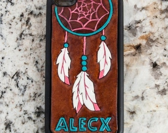 Tooled Leather Iphone Case