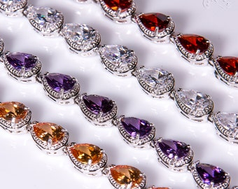 Purple Crystal bracelet, Bridal bracelet, Rhinestone Bracelet, Wedding bracelet, Bridal accessories, Prom, Crystal Bracelet b33