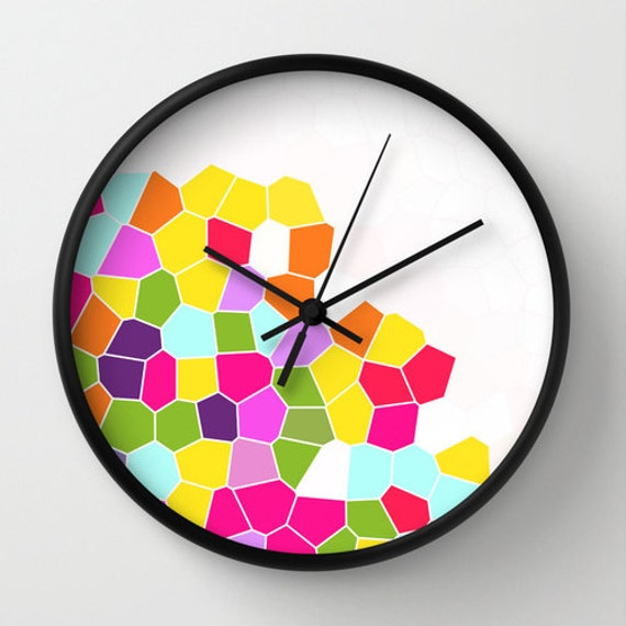 colorful clock unique wall clocks clock by