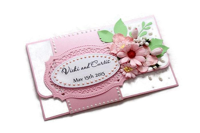 Wedding Gift Cards For Money : Wedding Money Card Wedding Gift Card Holder Personalized