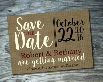 Save The Date { Burlap }