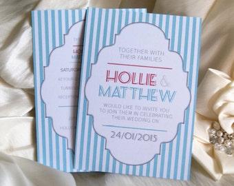 Standard Candy / seaside Wedding Invitation - PDF file