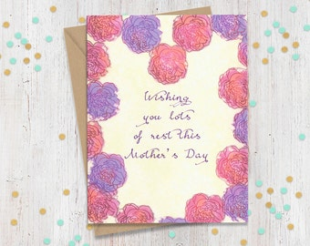 5 x 7 Mothers Day Card, Mother to be Card, Funny Mothers Day, Card for New Mom, Mothers Day Gift, Funny Greeting Card, Fun Card for New Mom