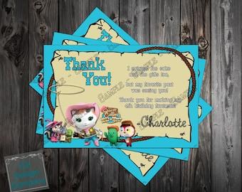 Sheriff Callie Birthday Party Thank You Card Printable