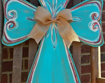 Large Hand Painted Cross