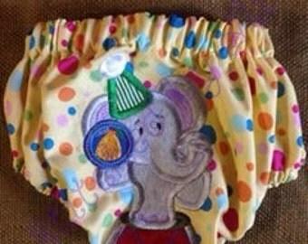 Circus Elephant Diaper Cover