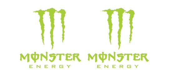 2pcs monster energy claw aufkleber sticker decal by. Black Bedroom Furniture Sets. Home Design Ideas