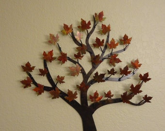 maple tree metal tree wall art art decor - Metal Tree Wall Decor