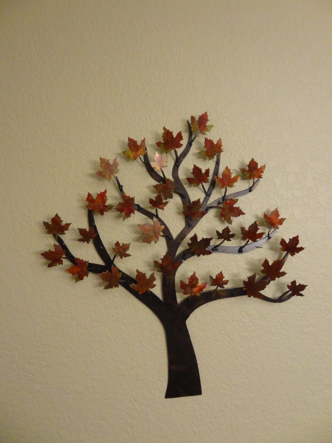 Maple tree metal tree wall art art decor for Tree wall art