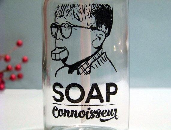 A Christmas Story Soap Dispenser Screen Printed Glass Pump Bottle - Ralphie Soap Connoisseur