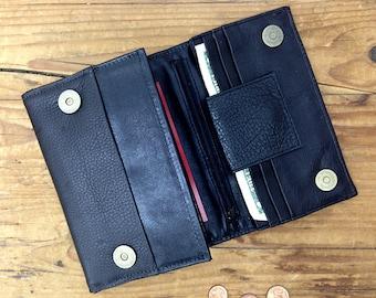 Sale!!! Black leather wallet Women's wallets Handmade black wallet leather purse Leather wallet for women iphone wallet By Limor Galili