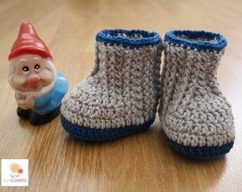 Wool baby booties, crochet, handmade crochet, gift idea Babyboots