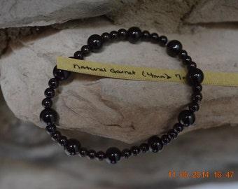 Natural Garnet Healing Stone Stretch Bracelet