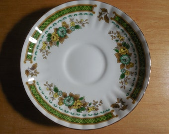 Royal Stafford Dovedale Orphan Saucer, Made in England