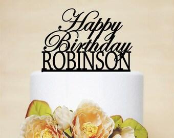 Happy Birthday Cake Topper,Custom Cake Topper,Acrylic Cake Topper,Personalized Cake Topper-A008