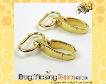 3/4 Inch to 1 Inch Gold Swivel Snap Hook [Set Of 2]