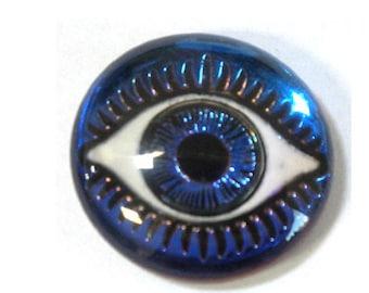 18MM Mysterious Eye Aqua/Blue/Purple Cabochon