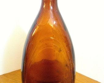 Vintage Brown Glass Liqueur Bottle