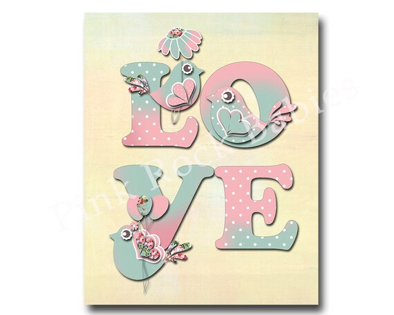 love nursery art baby girl room decor nursery wall art for