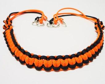 Custom Paracord Game Carrier Black/Orange