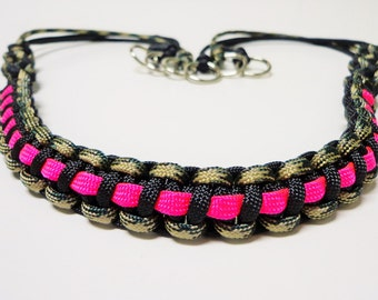 Custom Paracord Game Carrier Black/Camo/Pink