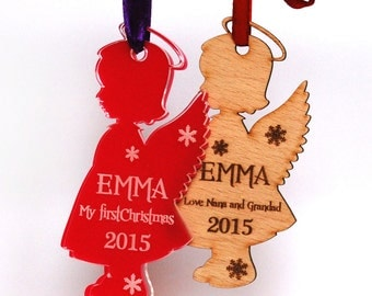 Personalized Christmas ornaments, Angel Christmas ornament