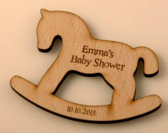 Rocking horse gift etsy 10 pcs wooden rocking horsecustom baby shower engraving personalized gift negle Image collections