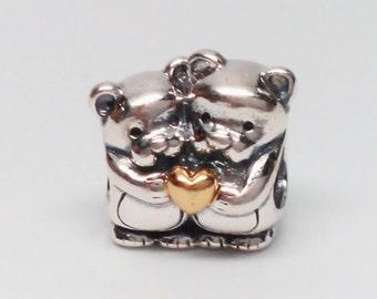 New Authentic Pandora 925 ALE Bear Hug Charm Bead 791395
