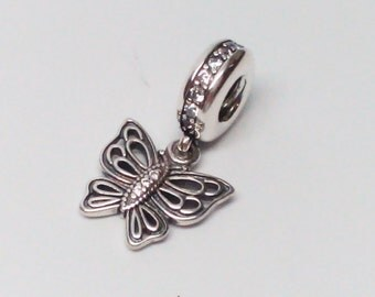 New Authentic Pandora Love Takes Flight Butterfly Dangle charm 791255CZ