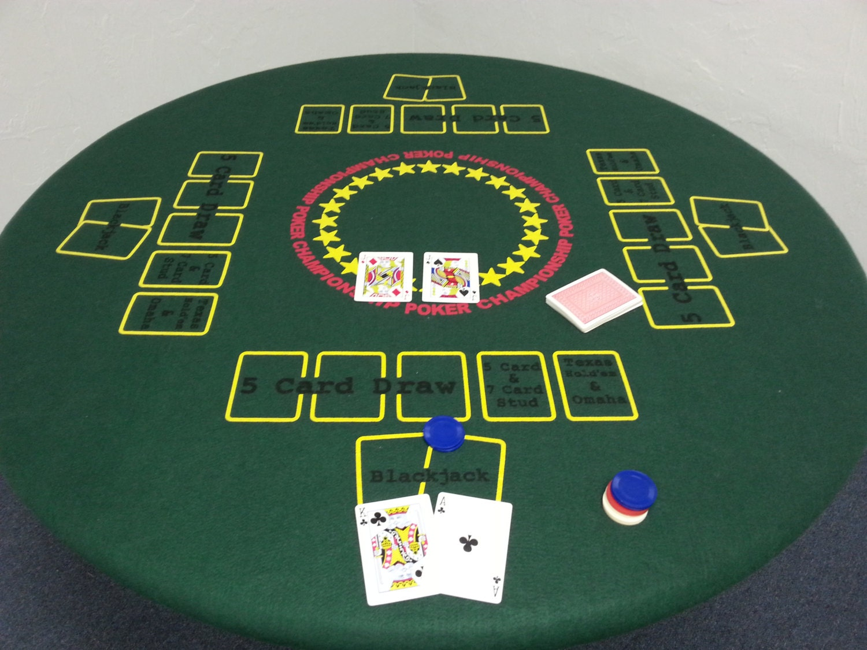 Hard poker table cover
