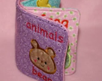 Animal Softbook Embroidery Machine Design for the 5x7 hoop