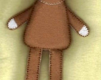 24 Hour Sale Price!!!   Mini Sock Monkey Softie Embroidery Machine Design for the 5x7 hoop