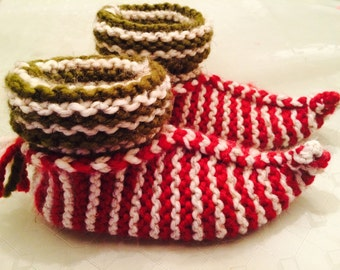 Knitting Pattern For Elf Slippers : Cozy Knit Elf Slippers pattern. Easy to make. Adult, one ...