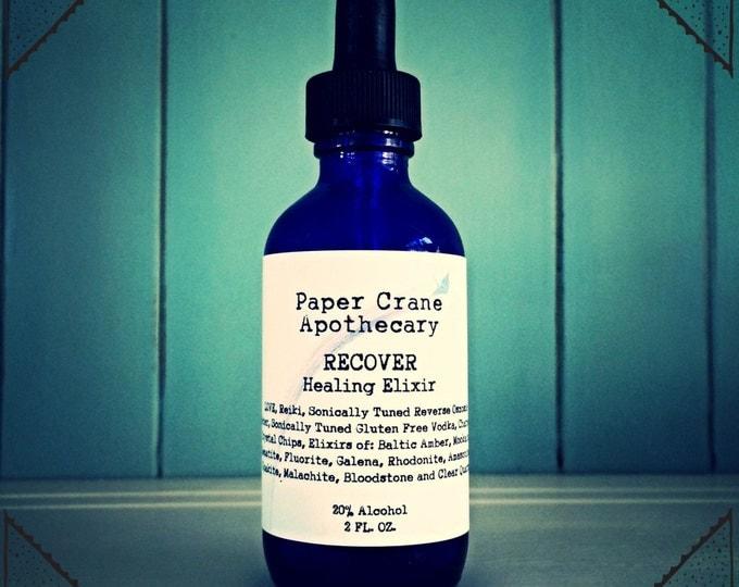 RECOVER - Healing Elixir - Gem Elixir - Baltic Amber Tincture - Crystal Healing